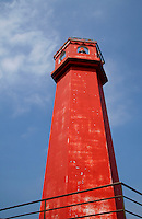 Shikinejima Lighthouse - unusual for its red color, as most lighthouses are white, Shikinejima Lighthouse is a local landmark for both fishermen, beach-goers and boaters in the area.