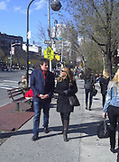 Gabriel Byrne and friend.New York Streets.West Village, NY, USA.Sunday, April 17, 2011.Photo By CelebrityVibe.com.To license this image please call (212) 410 5354; or Email: CelebrityVibe@gmail.com ; website: www.CelebrityVibe.com**EXCLUSIVE**