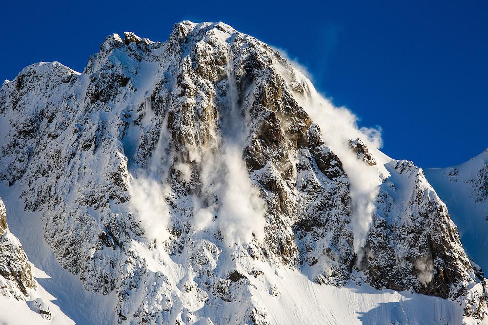 Avalanche, Les Marecottes, Switzerland