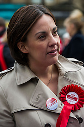 Pictured: Kezia Dugdale<br /> <br /> Scottish Labour leader, Kezia Dugdale began her Party's Holyrood election campaign by joining supporters at a street stall in Morningside in Edinburgh today. She was joned by local candidate Daniel Johnston<br /> <br />  Ger Harley | EEm 23 March 2016