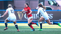 Jasmine Joyce of Wales<br /> <br /> Photographer Simon King/Replay Images<br /> <br /> Six Nations Round 3 - Wales Women v England Women - Sunday 24th February 2019 - Cardiff Arms Park - Cardiff<br /> <br /> World Copyright © Replay Images . All rights reserved. info@replayimages.co.uk - http://replayimages.co.uk