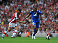Photo: Tony Oudot/Richard Lane Photography.  Arsenal v Real Madrid. Emirates Cup. 03/08/2008. <br /> Robinho of Real Madrid is chased by Denilson of Arsenal