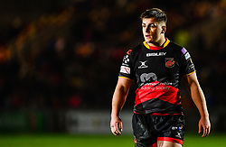 Dragons' Connor Edwards<br /> <br /> Photographer Craig Thomas/Replay Images<br /> <br /> Guinness PRO14 Round 18 - Dragons v Cheetahs - Friday 23rd March 2018 - Rodney Parade - Newport<br /> <br /> World Copyright © Replay Images . All rights reserved. info@replayimages.co.uk - http://replayimages.co.uk