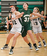 Minisink Valley's Stefanie Dolson (31) battles for position with Cornwall's Alex Gagliano, left, and Kelsey McDonald  defends during a game in Cornwall on Friday, Dec. 11, 2009.