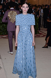 Rooney Mara walking the red carpet at The Metropolitan Museum of Art Costume Institute Benefit celebrating the opening of Heavenly Bodies : Fashion and the Catholic Imagination held at The Metropolitan Museum of Art  in New York, NY, on May 7, 2018. (Photo by Anthony Behar/Sipa USA)