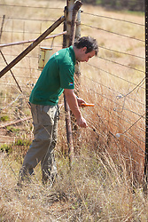 Louis Checking Voltage Along Fence