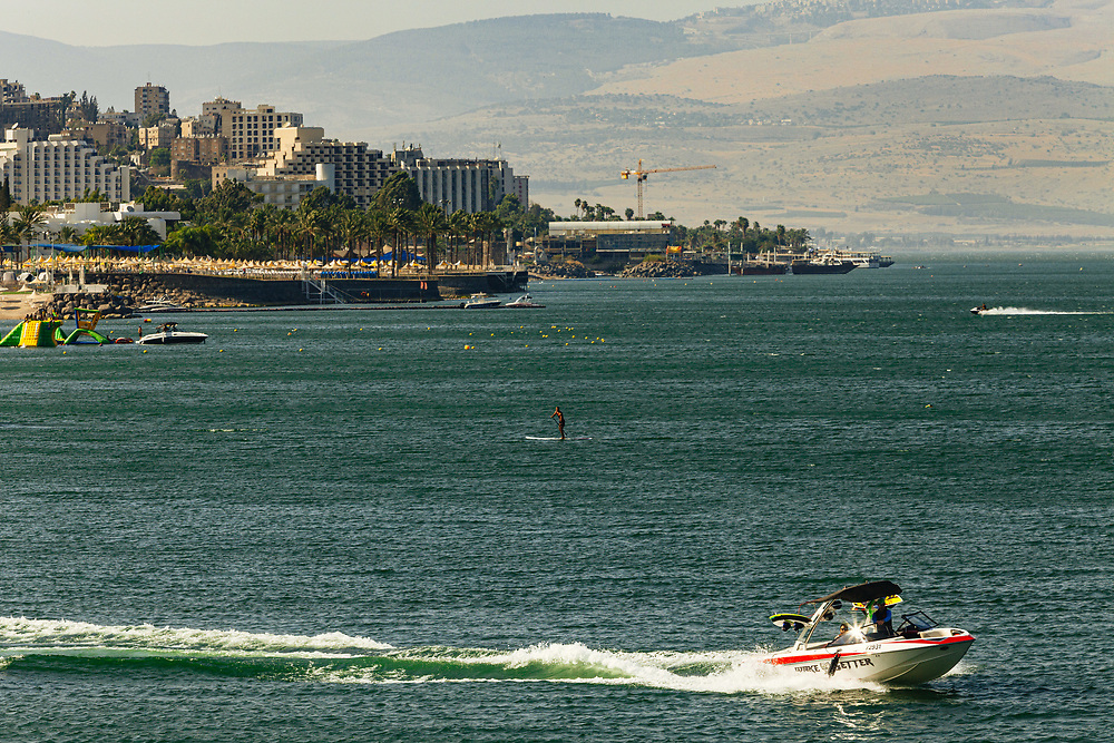 A view of the Sea of Galilee (Kinneret in Hebrew), and the city of Tiberias, northern Israel