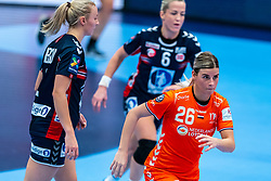 Angela Malestein of Netherlands in action during the Women's EHF Euro 2020 match between Netherlands and Norway at Sydbank Arena on december 10, 2020 in Kolding, Denmark (Photo by RHF Agency/Ronald Hoogendoorn)