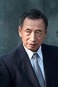 Portrait of right wing politician, Toshio Tamogama during the 70th anniversary celebrations of the end of the Pacific war  at the controversial Yasukuni Shrine in Kudanshita, Tokyo, Japan Saturday August 15th 2015