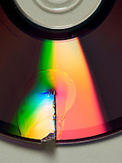 CD which has been destroyed by cutting it