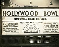 1929 The Hollywood Bowl signage