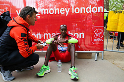 © Licensed to London News Pictures. 28/04/2019. London, UK. Britain's Mo Farah at the London Marathon 2019. Photo credit: Dinendra Haria/LNP