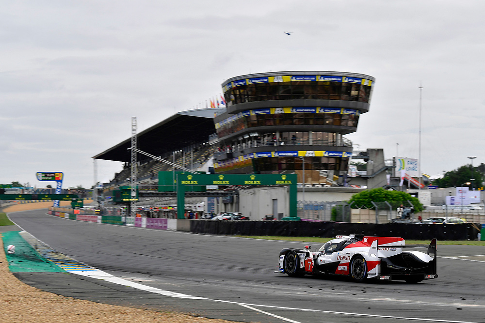 #7 Toyota Gazoo Racing Toyota TS050: Mike Conway, Kamui Kobayashi, Jose Maria Lopez<br /> Sunday 17 June 2018<br /> 24 Hours of Le Mans<br /> 2018 24 Hours of Le Mans<br /> Circuit de la Sarthe  FR<br /> World Copyright: Scott R LePage