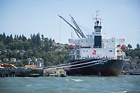Ship in the Columbia River. Astoria, Oregon.
