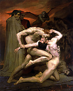 William-Adolphe Bouguereau (1825 – 1905) French academic painter Dante And Virgil In Hell 1850