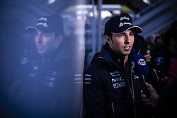 February 18, 2019 - Barcelona, Barcelona, Spain - Sergio Perez from Mexico with 11 SportPesa Racing Point F1 Team portrait at press consference during the Formula 1 2019 Pre-Season Tests at Circuit de Barcelona - Catalunya in Montmelo, Spain on February 18. (Credit Image: © Xavier Bonilla/NurPhoto via ZUMA Press)