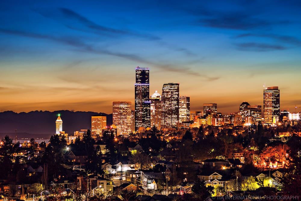 Seattle Skyline from Mt. Baker Ridge