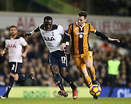 Tottenham's Moussa Sissoko tussles with Hull's Andrew Robertson during the Premier League match at White Hart Lane Stadium, London. Picture date December 14th, 2016 Pic David Klein/Sportimage