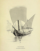 Sketch of A nile Nugger coming down with Grain from the book ' Pen and pencil sketches of shipping and craft all round the world ' by Pritchett, Robert Taylor Published in London in 1899