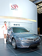 China's Soueast automaker displays its V4 car during Shanghai Motor Show, in Shanghai, China, on April 20, 2009. Shanghai auto show opened Monday for the press and will be open April 24-28 for the public. China is the only major auto market still growing despite the global economic slowdown. U.S. and global auto makers see China as the place where they can find the sales they desperately lack in their home market. Chinese automakers see the opportunity to assess themselves as major players in the world market. Photo by Lucas Schifres/Pictobank