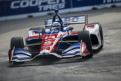 July 14, 2018 - Toronto, Ontario, Canada - TONY KANAAN (14) of Brazil takes to the track to practice for the Honda Indy Toronto at Streets of Toronto in Toronto, Ontario. (Credit Image: © Justin R. Noe Asp Inc/ASP via ZUMA Wire)