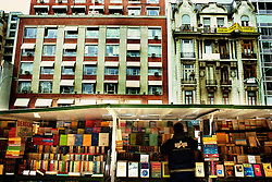BUENOS AIRES, ARGENTINA: A man sells books at a market in Buenos Aires. (Photo by Ami Vitale)