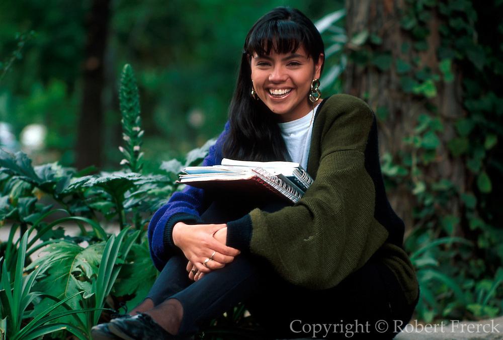 MEXICO, PORTRAITS, MEXICO CITY Female college student