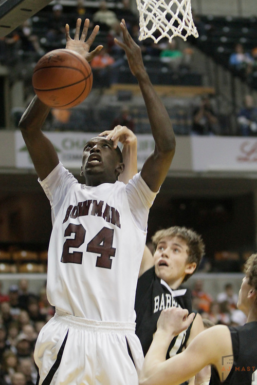 27 March 2010: Bowman Academy's Christopher Bond as the Barr-Reeve Vikings played the Bowman Academy Eagles in the IHSAA Boys Basketball State Championship game in Indianapolis.