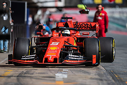 February 18, 2019 - Montmelo, BARCELONA, Spain - Circuit de Barcelona Catalunya, BARCELONA, 18 of february 2019. Sebatian Vettel driver of Ferrari  during the first day of Test at Circuit de Barcelona Catalunya (Credit Image: © AFP7 via ZUMA Wire)