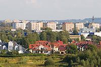 New Housing viewed from Zakrzowek near Ludwinow in Krakow Poland