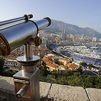 General View of Monaco looking towards the Harbour.