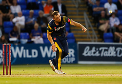 Glamorgan's Graham Wagg bowls<br /> <br /> Photographer Simon King/Replay Images<br /> <br /> Vitality Blast T20 - Round 8 - Glamorgan v Gloucestershire - Friday 3rd August 2018 - Sophia Gardens - Cardiff<br /> <br /> World Copyright © Replay Images . All rights reserved. info@replayimages.co.uk - http://replayimages.co.uk