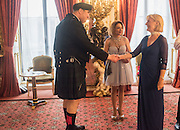 MARK HAYBALL; DR. SHIRIN PARSNO; ; PRINCESS OLGA ROMANOV OF RUSSIA,  The 20th Russian Summer Ball, Lancaster House, Proceeds from the event will benefit The Romanov Fund for RussiaLondon. 20 June 2015