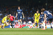 The ball gets away from Burton Albion midfielder Jamie Allen (4) during the EFL Sky Bet League 1 match between Southend United and Burton Albion at Roots Hall, Southend, England on 22 April 2019.