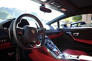 August 14-16, 2012 - Lamborghinis at Pebble Beach: Lamborghini Huracan interior
