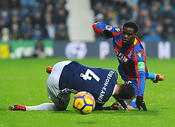 Jeffrey Schlupp of Crystal Palace collides with Hal Robson-Kanu of West Bromwich Albion - Mandatory by-line: Nizaam Jones/JMP - 02/12/2017 - FOOTBALL - The Hawthorns - West Bromwich, England- West Bromich Albion v Crystal Palace - Premier League