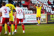 Hayden White of Walsall during the EFL Sky Bet League 2 match between Stevenage and Walsall at the Lamex Stadium, Stevenage, England on 20 February 2021.