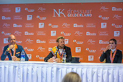 Top 3 NK, Minderhoud Hans Peter, Gal Edward, Scholtens Emmelie, NED<br /> Nederlands Kampioenschap dressuur<br /> Ermelo 2020<br /> © Hippo Foto - Sharon Vandeput<br /> 20/09/2020