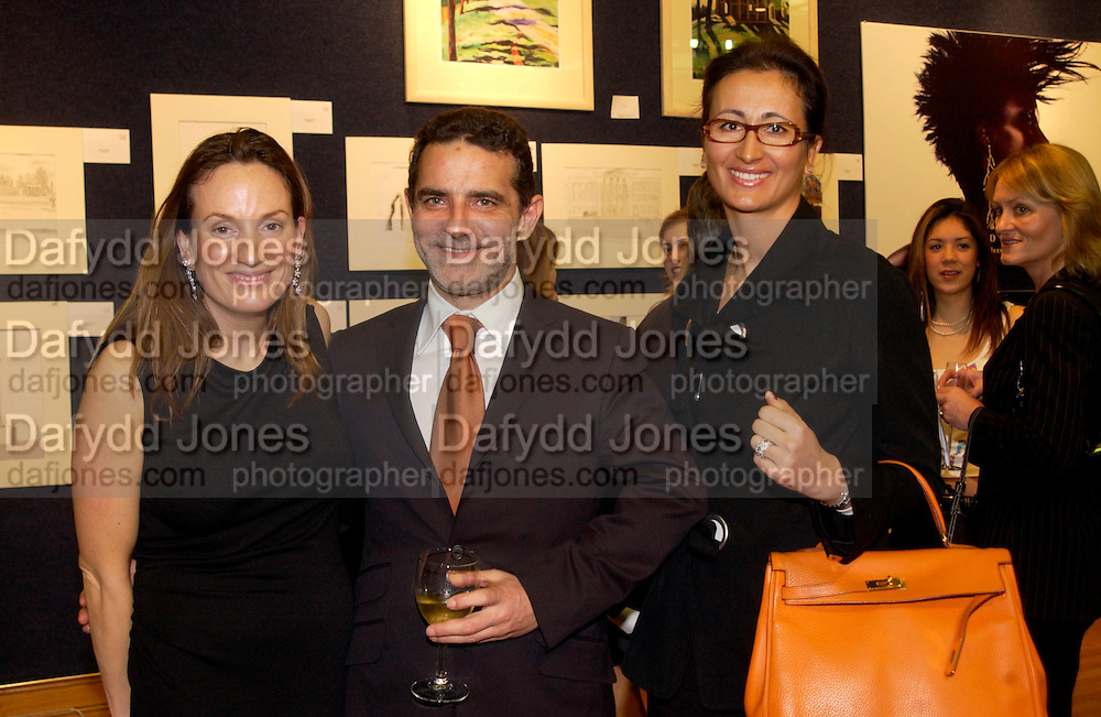Emily Oppenheimer with The new CEO of De Beers, Guy Leymarie and De Beers Sales Director: Sylvie Freuncd-Pickavance, Hip Art, in aid of Stowe House Preservation Trust and friends of War Memorials. Christie's. 16 March 2004. ONE TIME USE ONLY - DO NOT ARCHIVE  © Copyright Photograph by Dafydd Jones 66 Stockwell Park Rd. London SW9 0DA Tel 020 7733 0108 www.dafjones.com