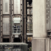 Abstract composition formed by buildings' structures of the city of london.