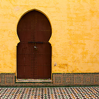 Africa, Morocco, Meknes. Mausoleum of Moulay Ismail.