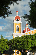 View of the bell tower of Our Lady of the Assumption Cathedral or Granada Cathedral, Granada, Nicaragua