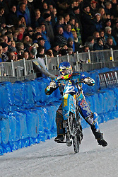 13.03.2016, Assen, BEL, FIM Eisspeedway Gladiators, Assen, im Bild Guenter Bauer (GER) // during the Astana Expo FIM Ice Speedway Gladiators World Championship in Assen, Belgium on 2016/03/13. EXPA Pictures © 2016, PhotoCredit: EXPA/ Eibner-Pressefoto/ Stiefel<br /> <br /> *****ATTENTION - OUT of GER*****