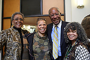 29 October 2010- Harlem, New York- l to r: Camille Yearborough, Ntosake Shange, Howard Dodson and Sonia Sanchez at The Acquisition of the Maya Angelou Collection of Personal Papers and Materials Documenting 40 years of the Writer's Literary Career held at the Schomburg Center on October 29, 2010 in Harlem, USA. Photo Credit: Terrence Jennings