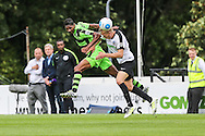 Forest Green Rovers Ethan Pinnock (16) heads clear during the Vanarama National League match between Dover Athletic and Forest Green Rovers at Crabble Athletic Ground, Dover, United Kingdom on 10 September 2016. Photo by Shane Healey.