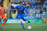 Joe Bunney during the EFL Sky Bet League 1 match between Rochdale and Shrewsbury Town at Spotland, Rochdale, England on 9 March 2019.