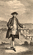 Francis Egerton, 3rd Duke of Bridgewater (1736-1803) English nobleman and mine owner who commissioned the building of the Bridgewater. The Duke as a young man. In the background is the Barton aqueduct carrying the canal over the River Irwell.  Engraving from ''Lives of the Engineers' by Samuel Smiles (London, 1862).