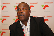 DURBAN - 28 March 2012 - Zeph Ndlovu, Terminal Executive for Durban's RORO and Maydon Wharf Terminals, answers questions at a press conference following announcements of an upgrade to the two terminals..Picture: Giordano Stolley/Allied Picture Press/APP