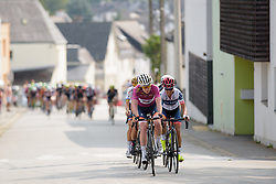 Anna van der Breggen sets the pace on the first climb on the local loop at Grand Prix de Plouay Lorient Agglomération a 121.5 km road race in Plouay, France on August 26, 2017. (Photo by Sean Robinson/Velofocus)