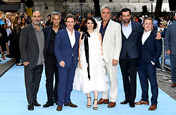 (From left to right) Director Oliver Parker, Rupert Graves, Rob Brydon, Charlotte Riley, Jim Carter, Daniel Mays and Thomas Turgoose attending the Swimming with Men premiere held at Curzon Mayfair, London. Photo credit should read: Doug Peters/EMPICS